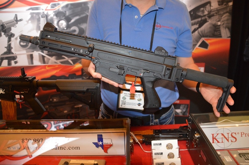 KNS Precision has come correct with a series of new folding stock options for the CZ 805 Bren