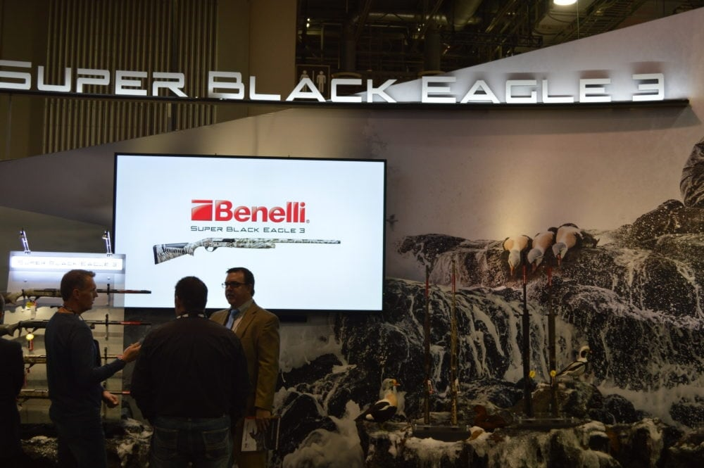 All the buzz at Benelli's SHOT booth surrounds the release of the Super Black Eagle 3. (Photo: Kristin Alberts)