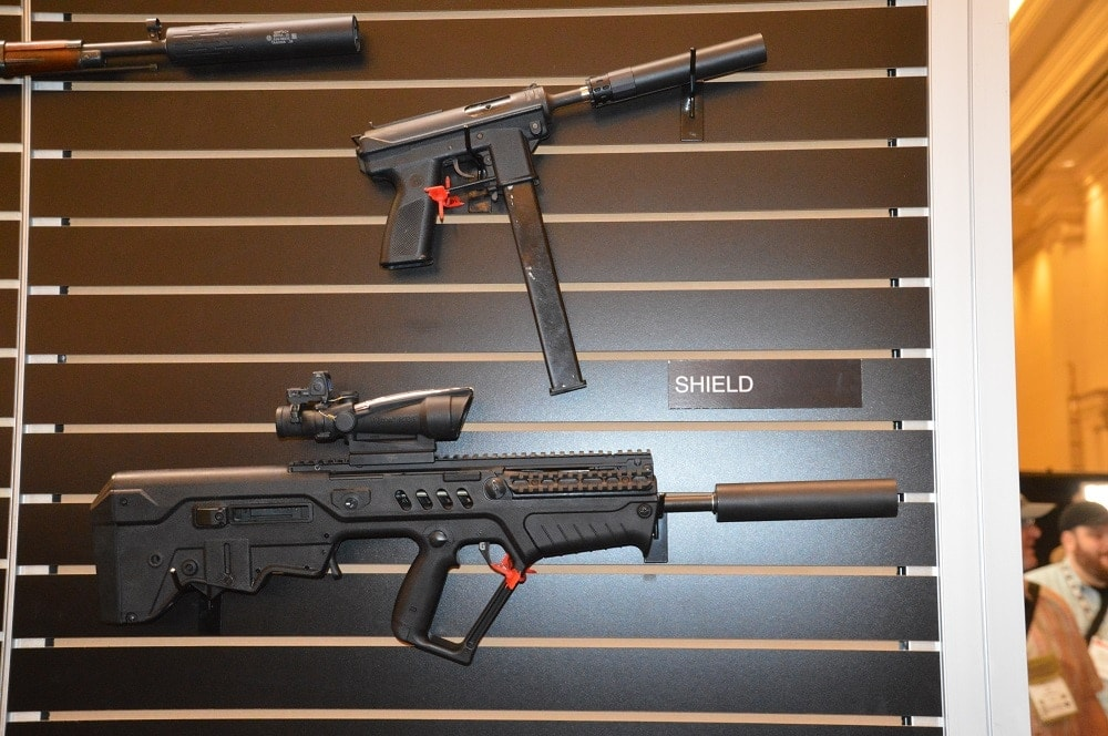 Gemtech's Shield showing a little versatility on both Tavor and Tec-9
