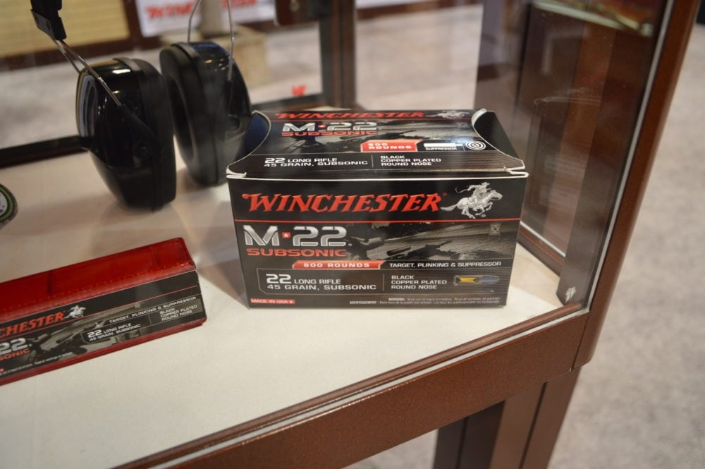 Winchester debuted bulk packs of M-22 Subsonic ammunition, built purposely for reliable feeding in semi-auto platforms with superior suppressed performance(Photo: Kristin Alberts)