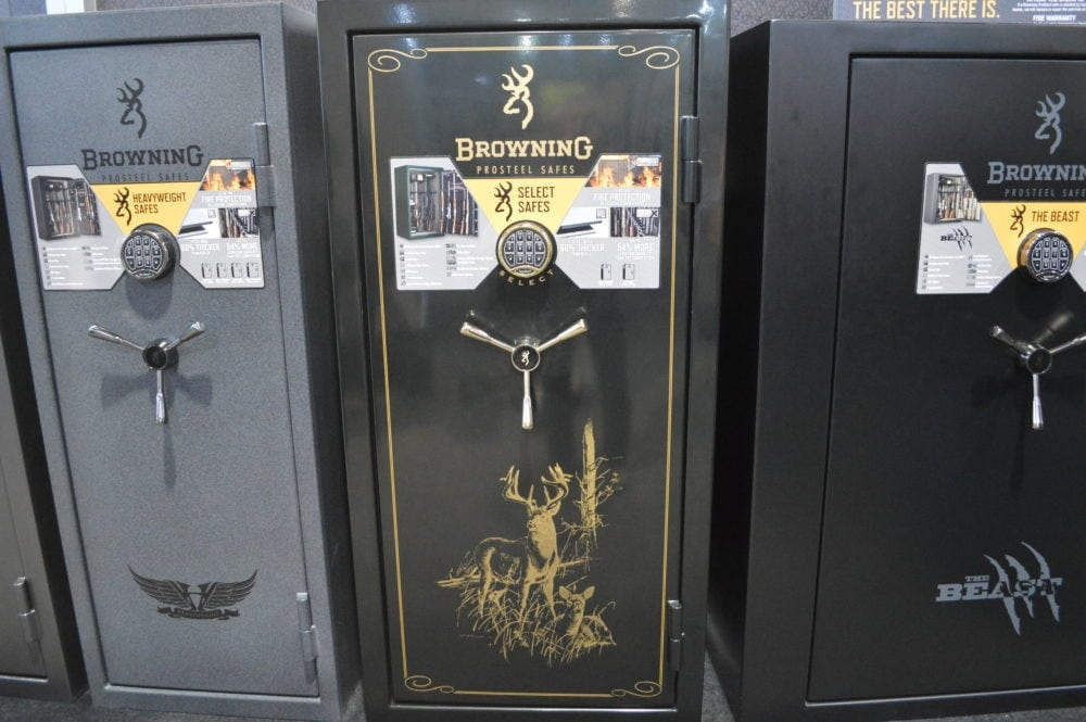 Browning displayed a full lineup of gun safes at SHOT (Photo: Kristin Alberts)