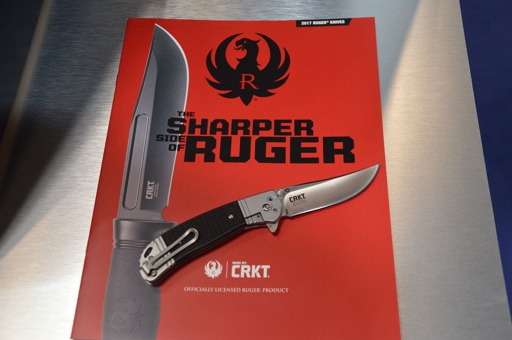 Besides their gun line, Ruger debuted a number of new knives in conjunction with CRKT including the $99 Muzzle Break full tang survival knife, left, and the $69 Hollow Point folder.