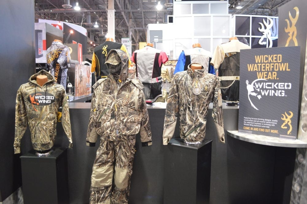 Browning expanded their hunting wear line with additions to Wicked Wing waterfowl apparel. (Photo: Kristin Alberts)