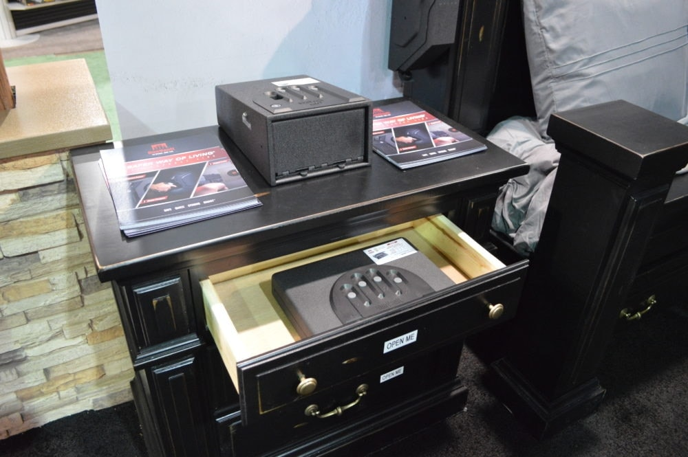 GunVault displayed a variety of their personal-sized safes, ideal for anything from pistols to valuables and easily stored out of sight. (Photo: Kristin Alberts)