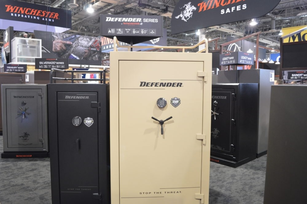 Winchester's Defender line of safes sets itself apart with the rugged top storage rack. (Photo: Kristin Alberts)