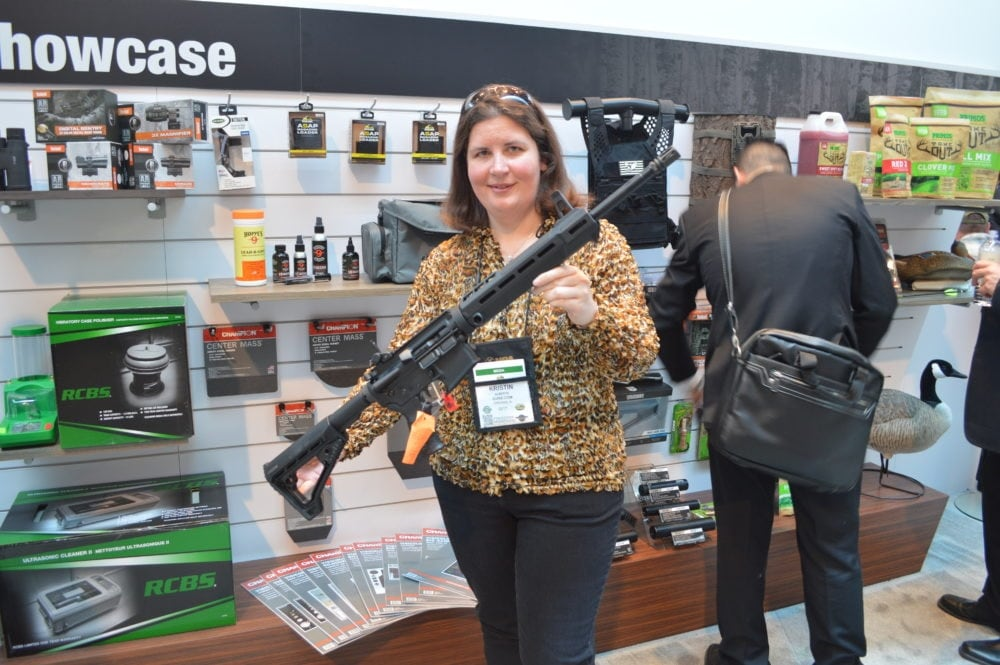 Savage's big splash at SHOT was the MSR line of rifles, including this MSR-15 chambered in .223 Wylde. (Photo: Kristin Alberts)
