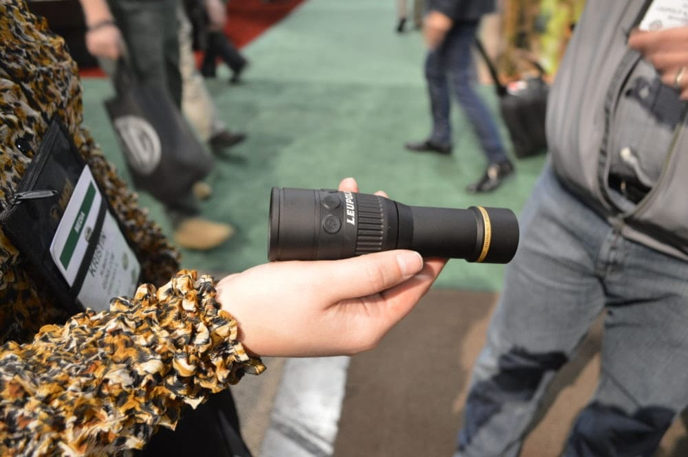 Leupold debuted their LTO Tracker Thermal, a handheld thermal game recovery tool loaded with features with a range out to 600 yards. (Photo: Kristin Alberts)
