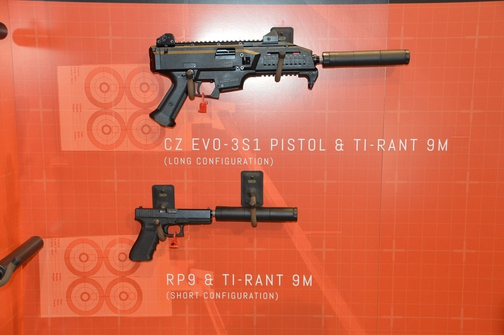 The Ti-Rant 9M (M= Modular) offers two suppressor lengths (8- and 5.84-inch) that can be configured by the user without tools. (Photos: Chris Eger/Guns.com)