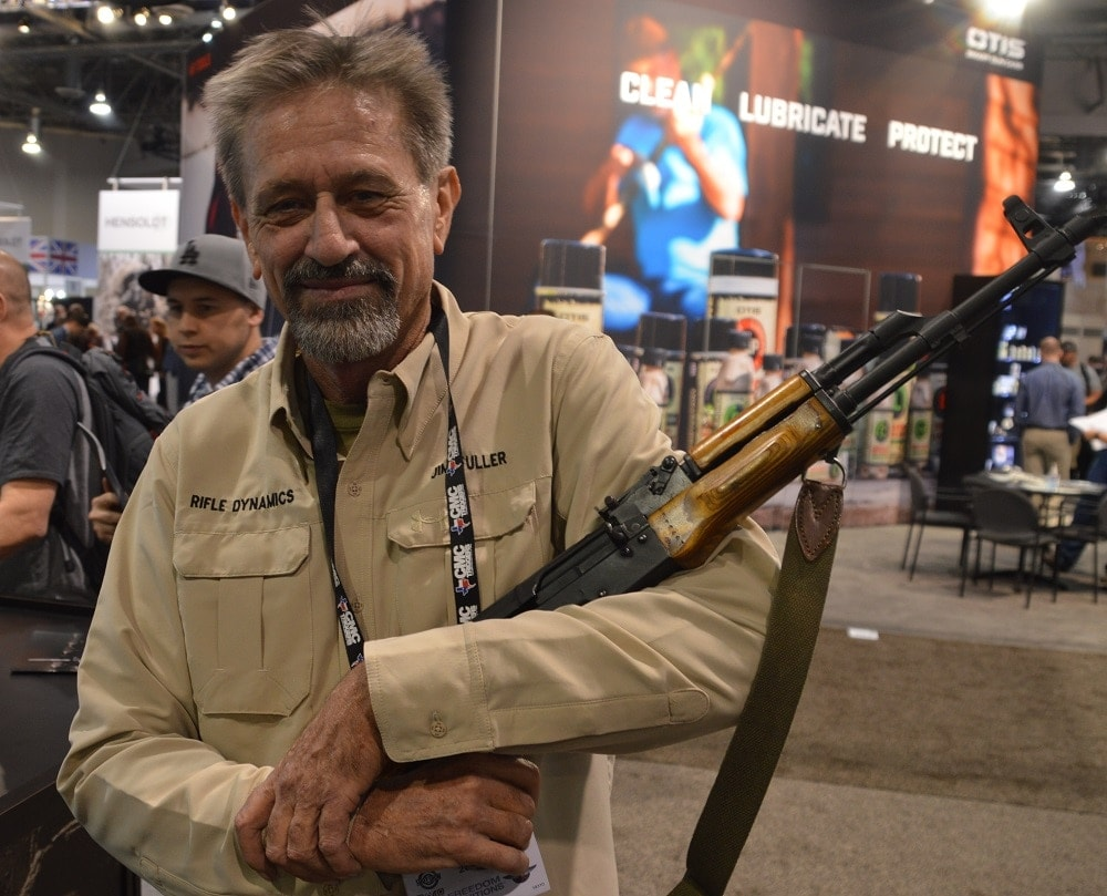 Jim Fuller, the Yoda of custom AKs, was on hand with a few of his Rifle Dynamics pieces.