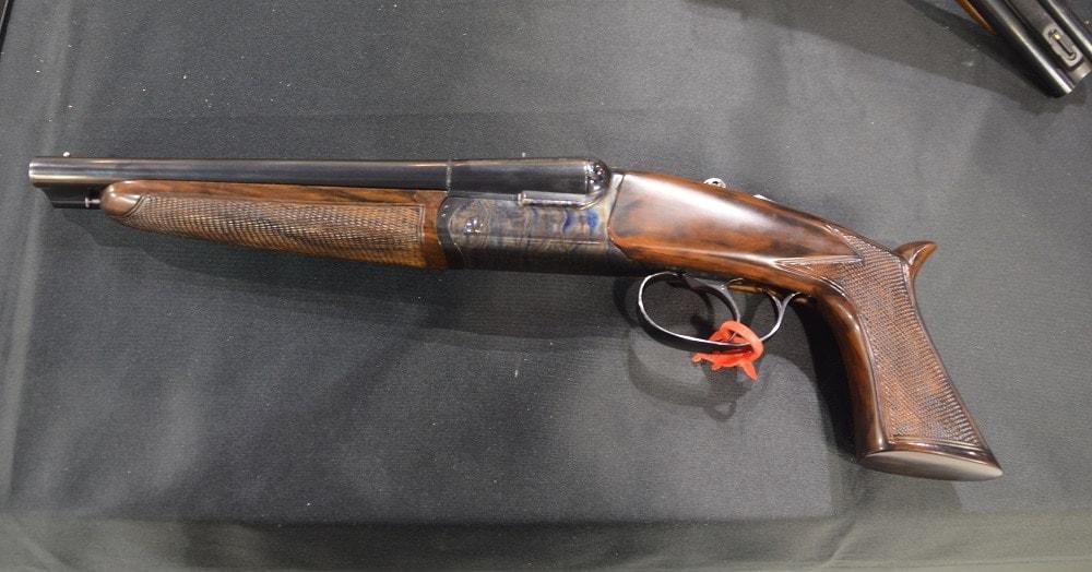 The Pedersoli Howdah .45/.410 is an NFA-compliant repro of a Prohibition-era 12-gauge pistol killed off by the NFA (Photos: Chris Eger/Guns.com)