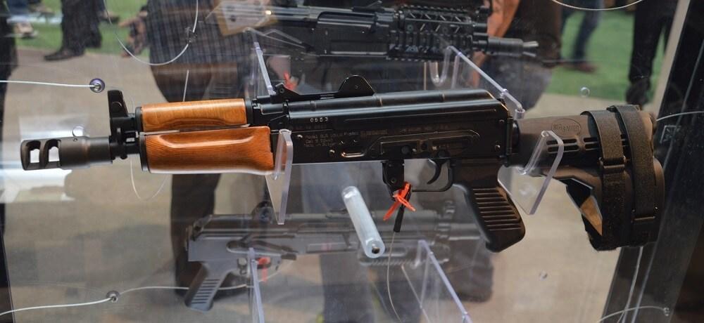 Arsenal's SLR 106UR pistol, a Bulgarian offering in 5.56mm.
