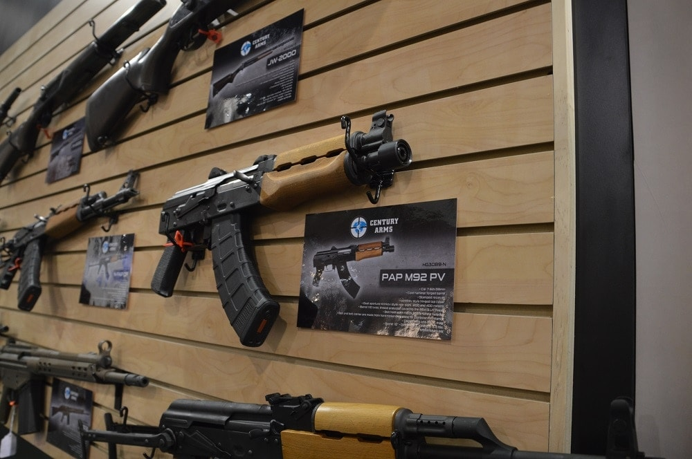 Century Arms was on site with their always popular collection