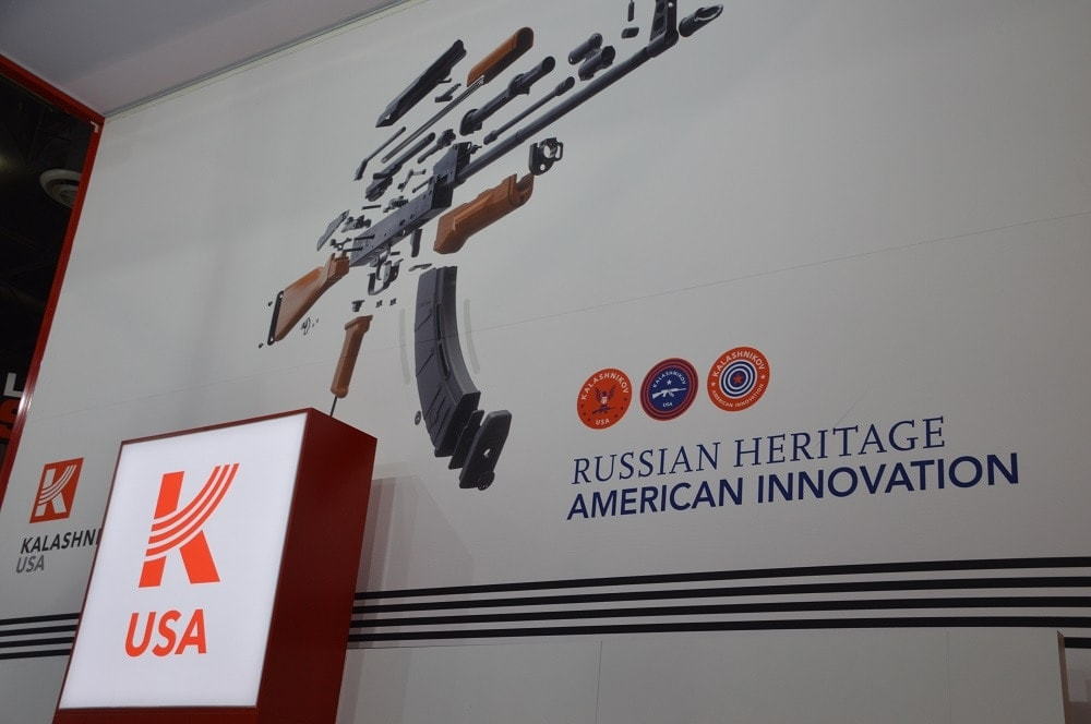 And of course Kalashnikov USA was on hand with their offerings