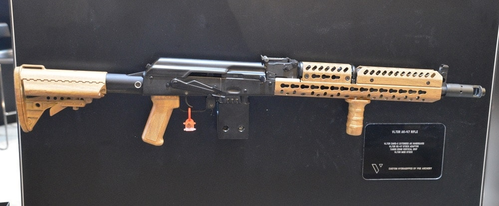 VLTOR has your KeyMod needs covered with their CMRD-E Extended AK handguard, stock adaptor and IMOD stock.