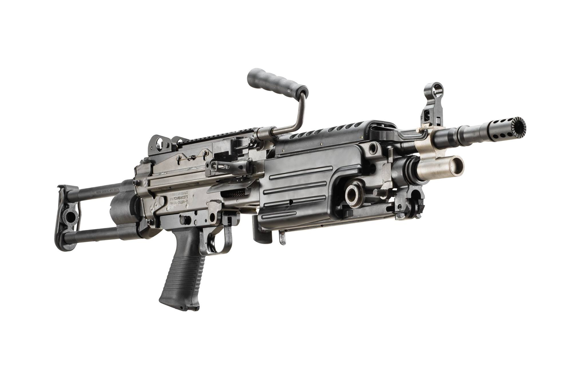 FN's new M249S Para brings a collapsible stock to the semi-auto belt-fed rifle already in their Military Collector series. (Photos: FN)