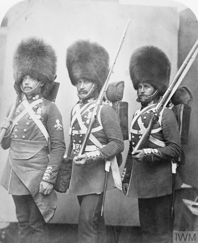 British Army Grenadier Guards with P53 rifles. (Photo: Imperial War Museum)