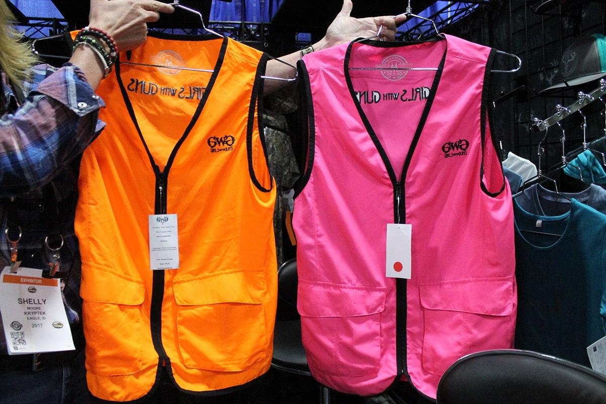 Hunting vests in blaze orange, left, and blaze pink, right. (Photo: Jacki Billings)