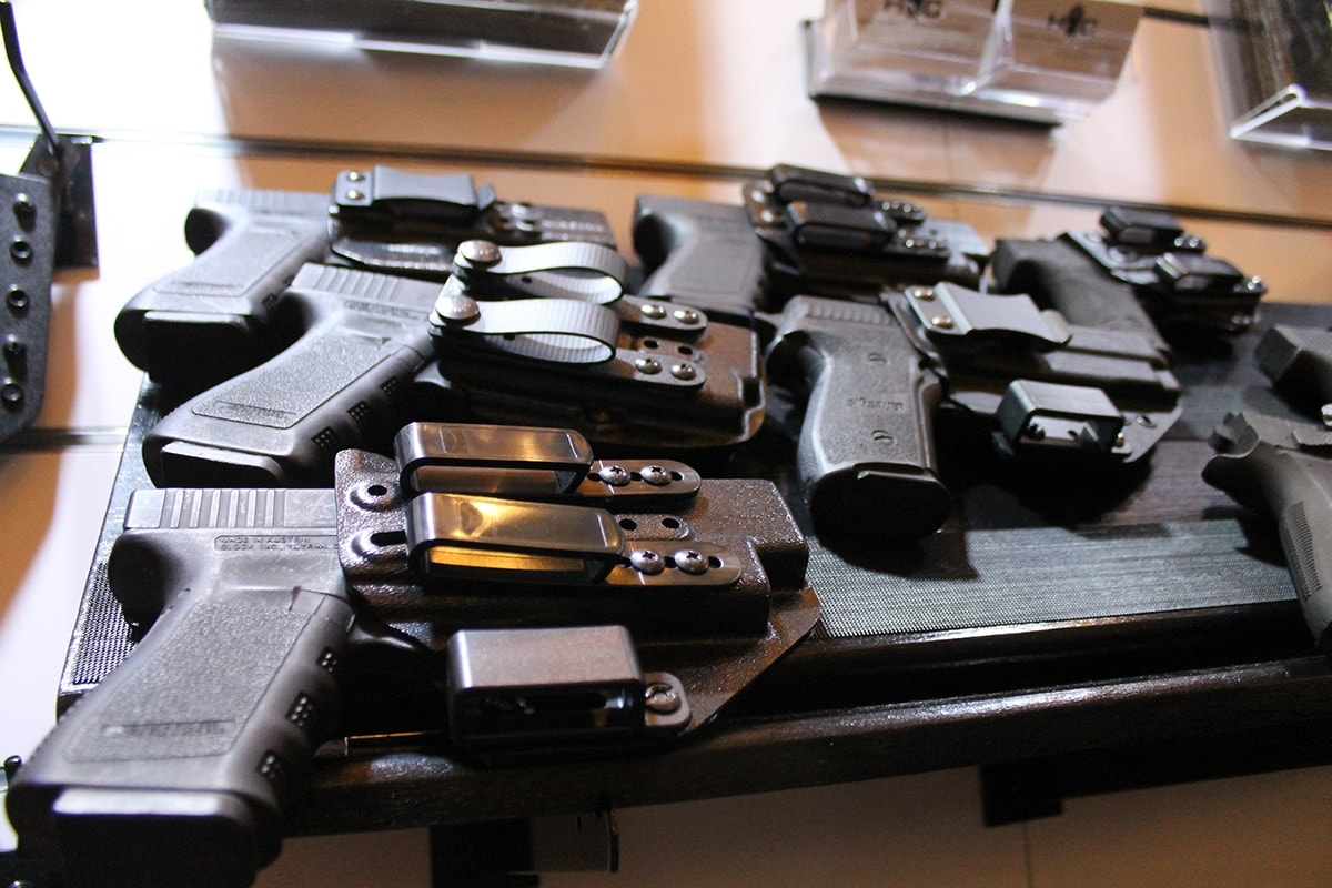 A mixture of IWB rigs from High Threat Concealment. (Photo: Jacki Billings)