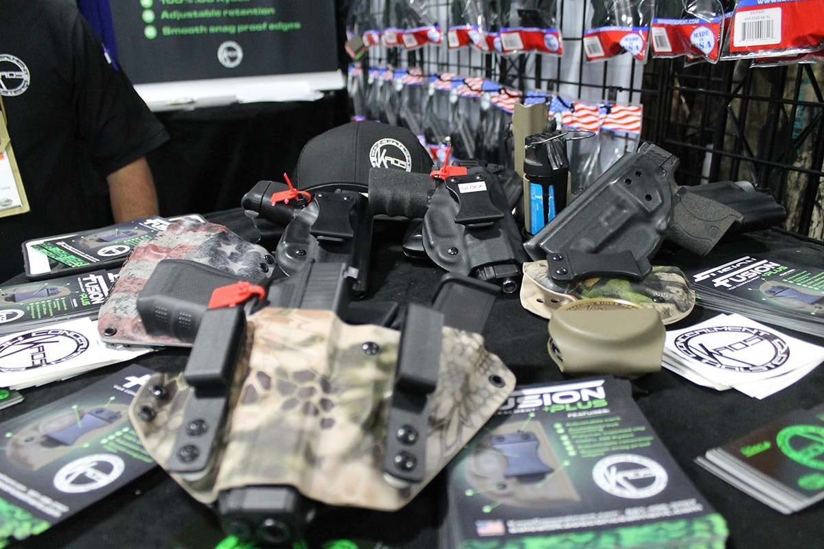 Kaos Concealment brightened up the showroom with some attractive designs. (Photo: Jacki Billings)