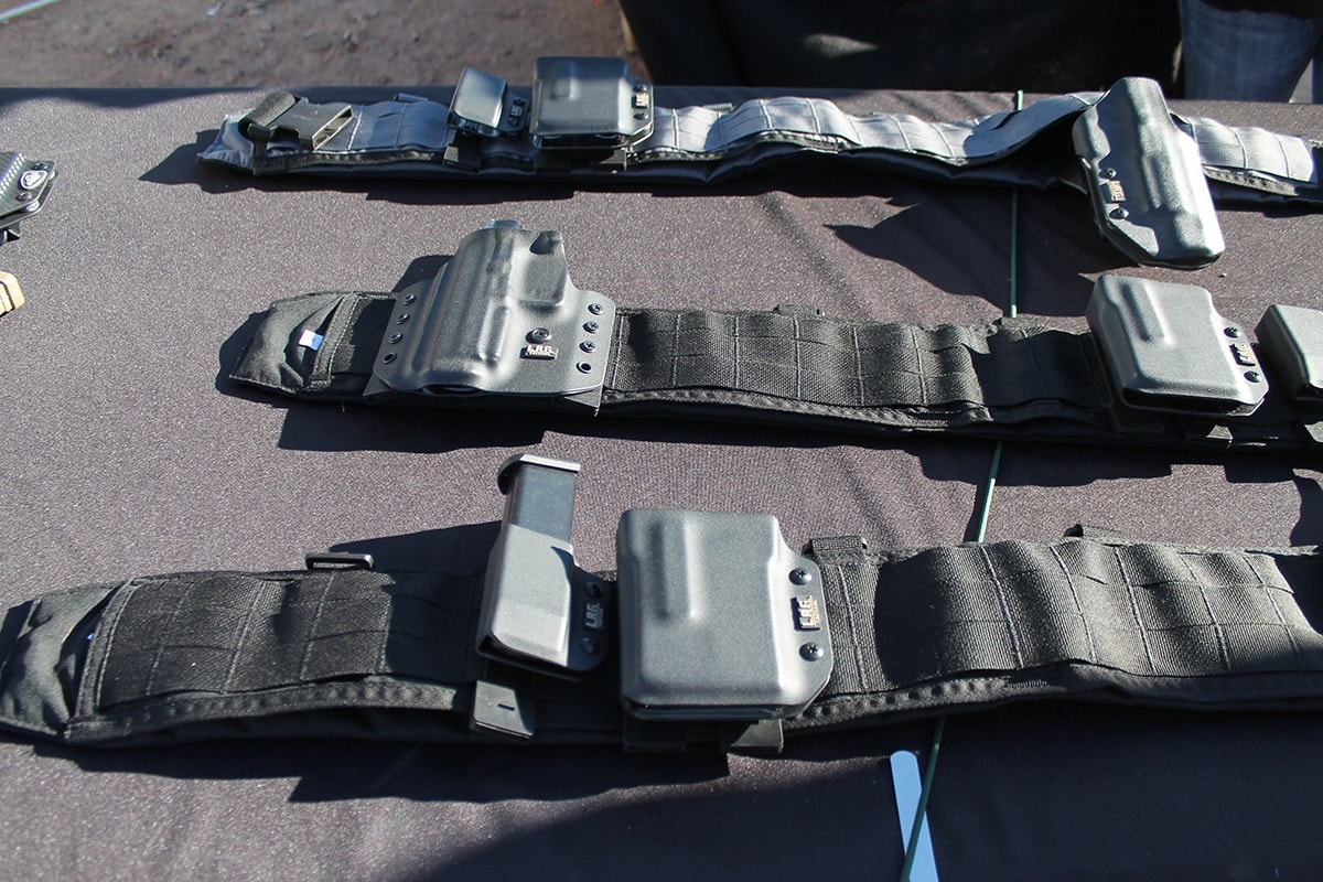Holsters 24: L.A.G. Tactical holsters on a battle belt. (Photo: Jacki Billings)