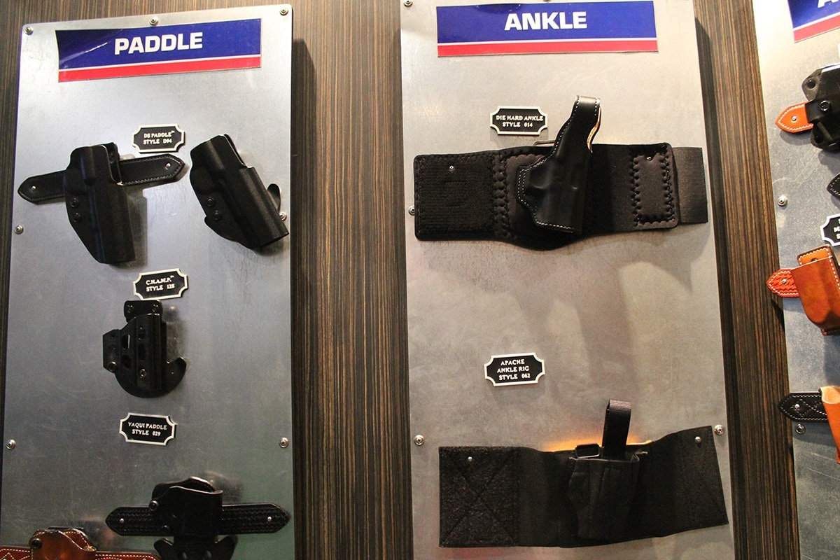 Paddle and ankle holsters from DeSantis. (Photo: Jacki Billings)