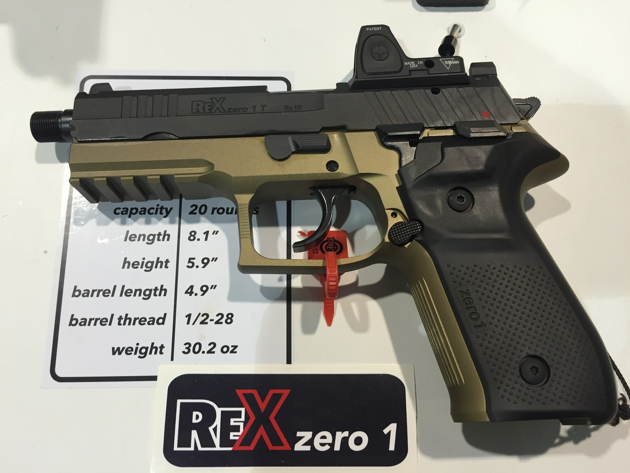 Imported by FIME Group and made by Arex of Slovenia, the Rex 01S 9mm tactical version Is now ready for US sales.