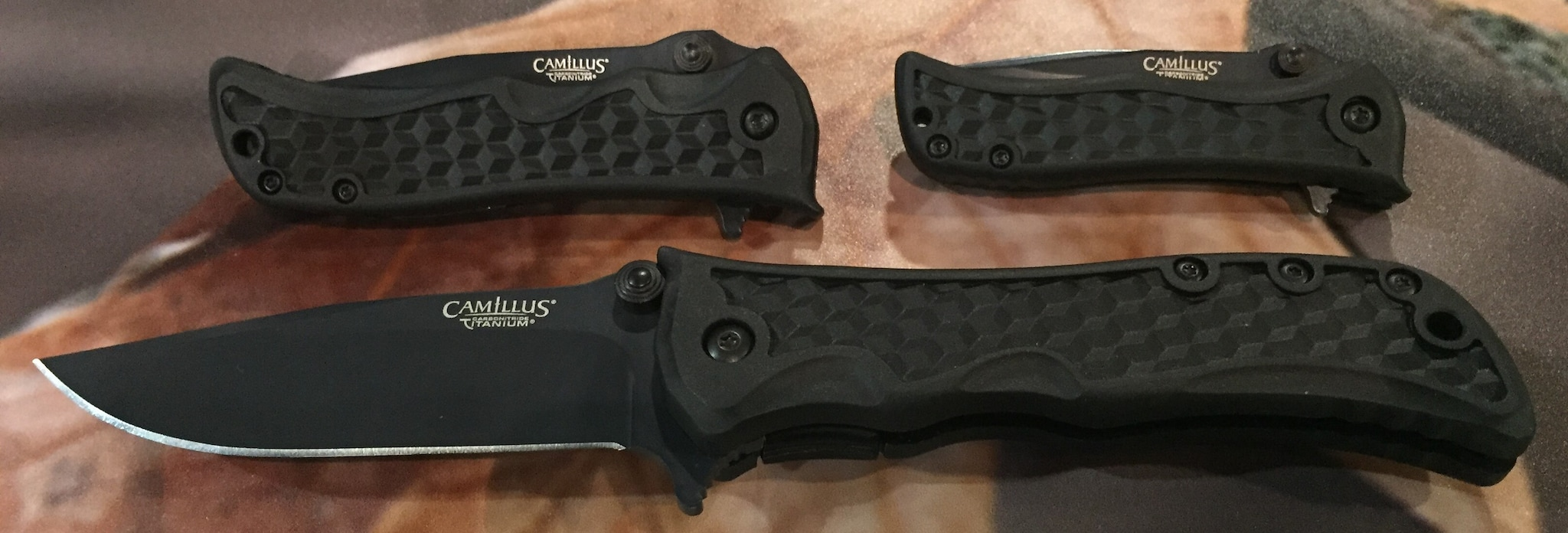 Camillus Knives' new tactical series, in three sizes with a drop point blade.