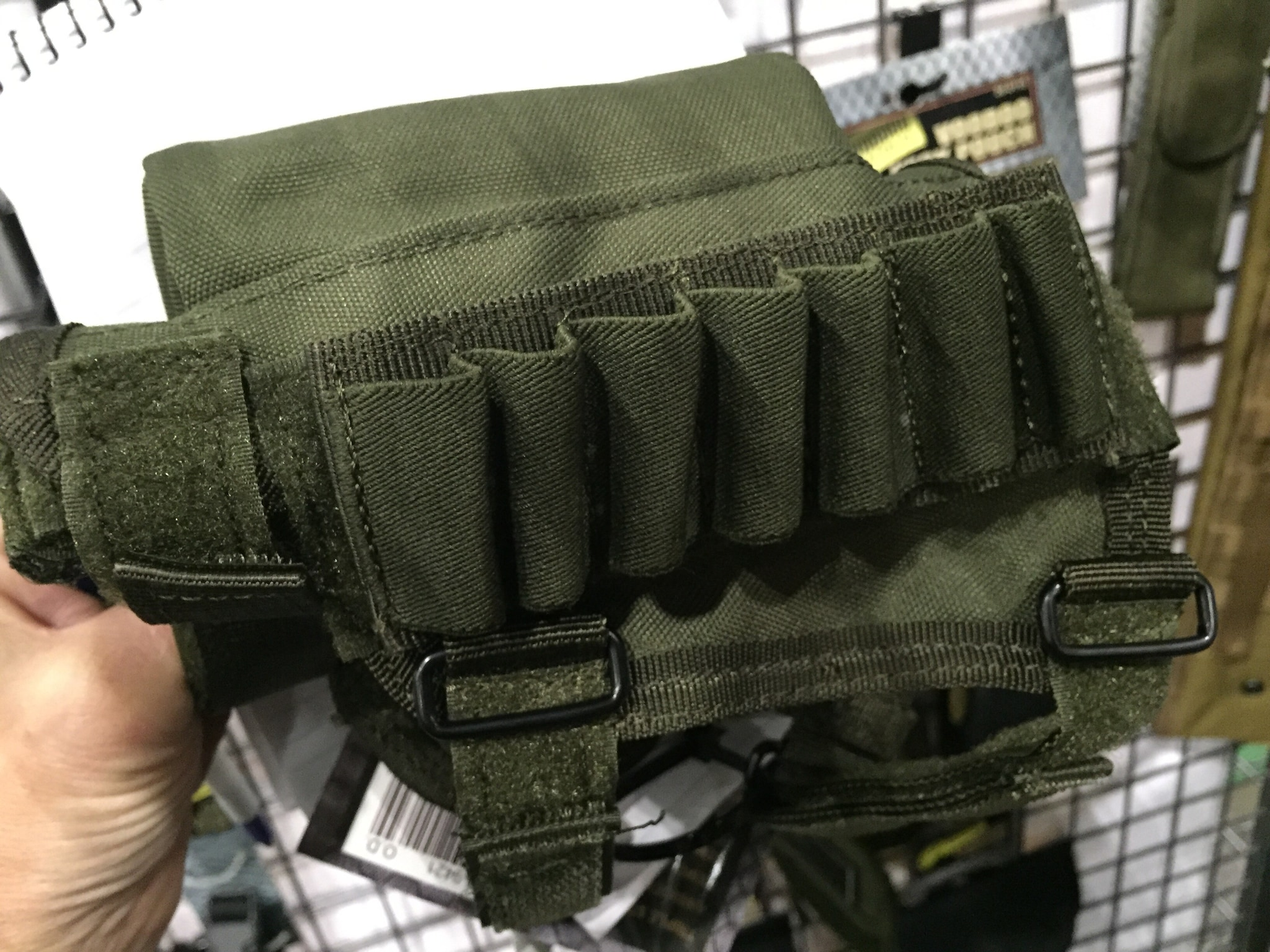 Struggling with cheek weld? Voodoo Tactical has this ambi cheek pad with both ammo and whatnot storage.