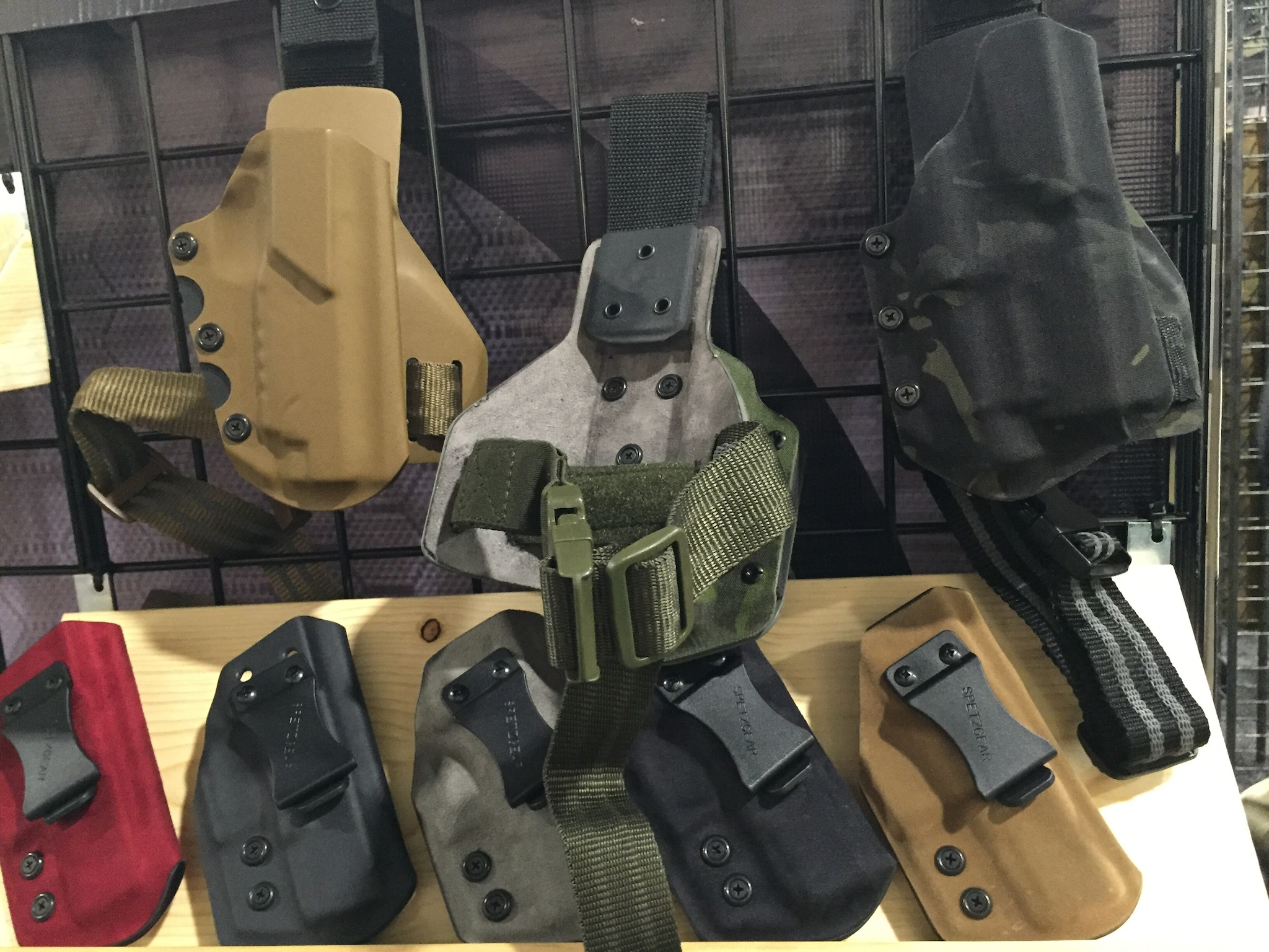 Spetzgear's thigh rigs are the choice of LAPD SWAT. The company is now making holsters in suede finish, too.