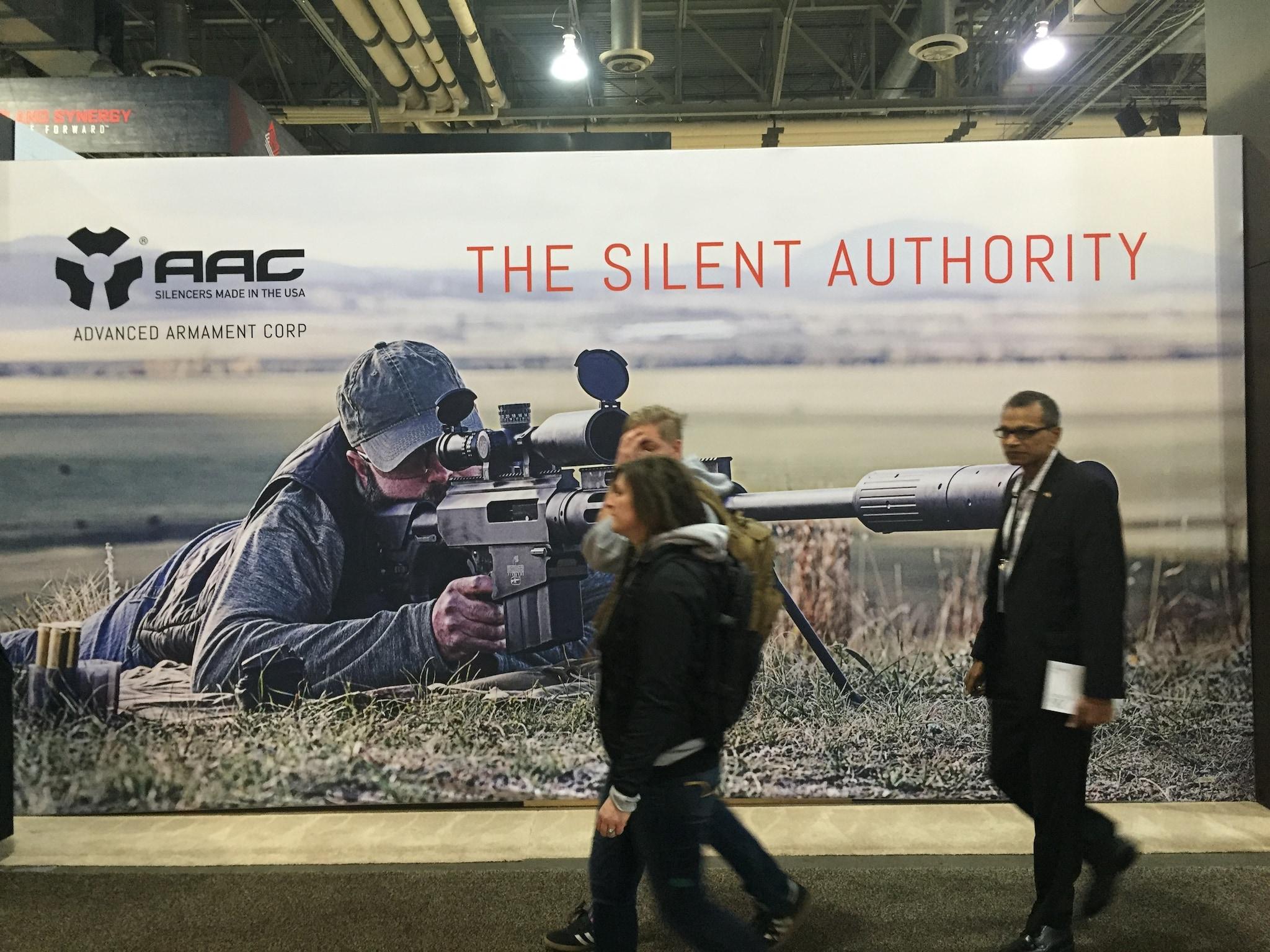 AAC Silencers wall at the vast Remington display.
