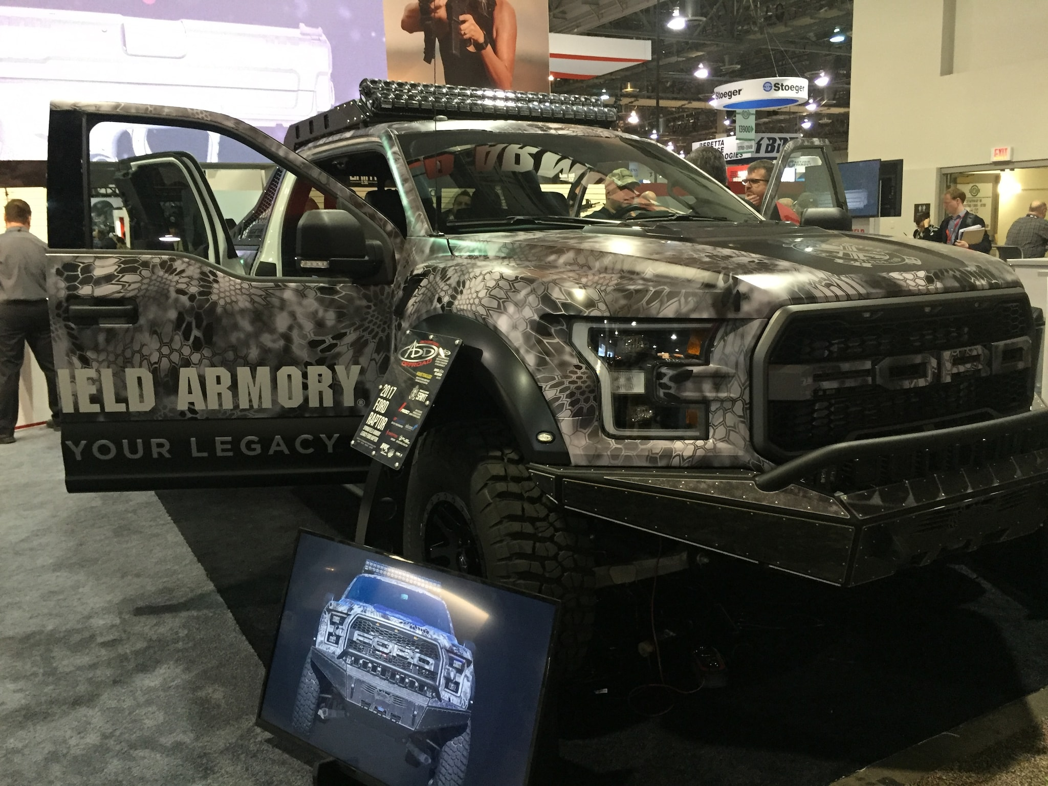 The Springfield Ford Raptor is ready for the zombie apocalypse.