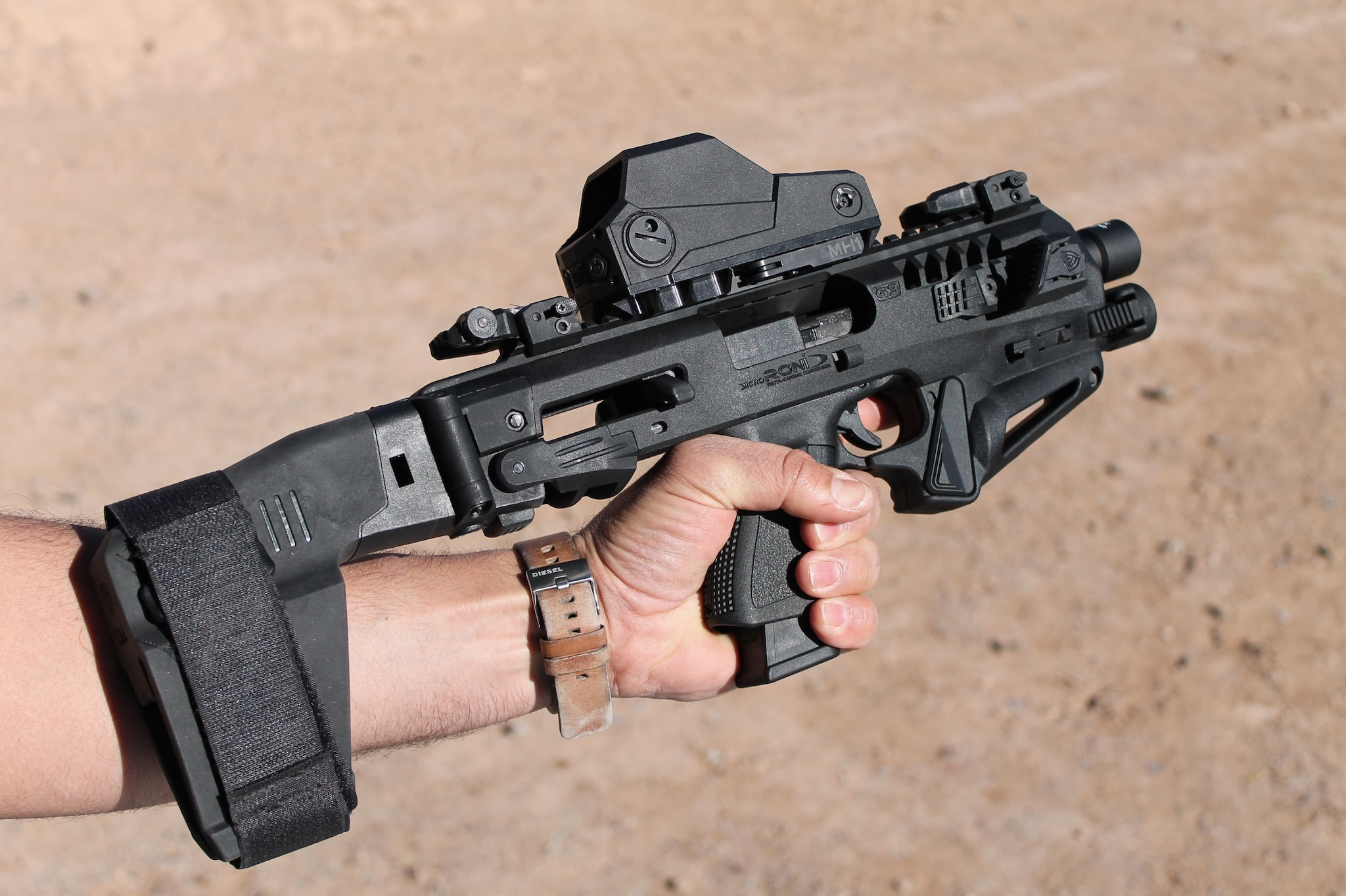 CAA's Micro Roni stabilizer kit on a Glock. $550. (Photo: Team HB)