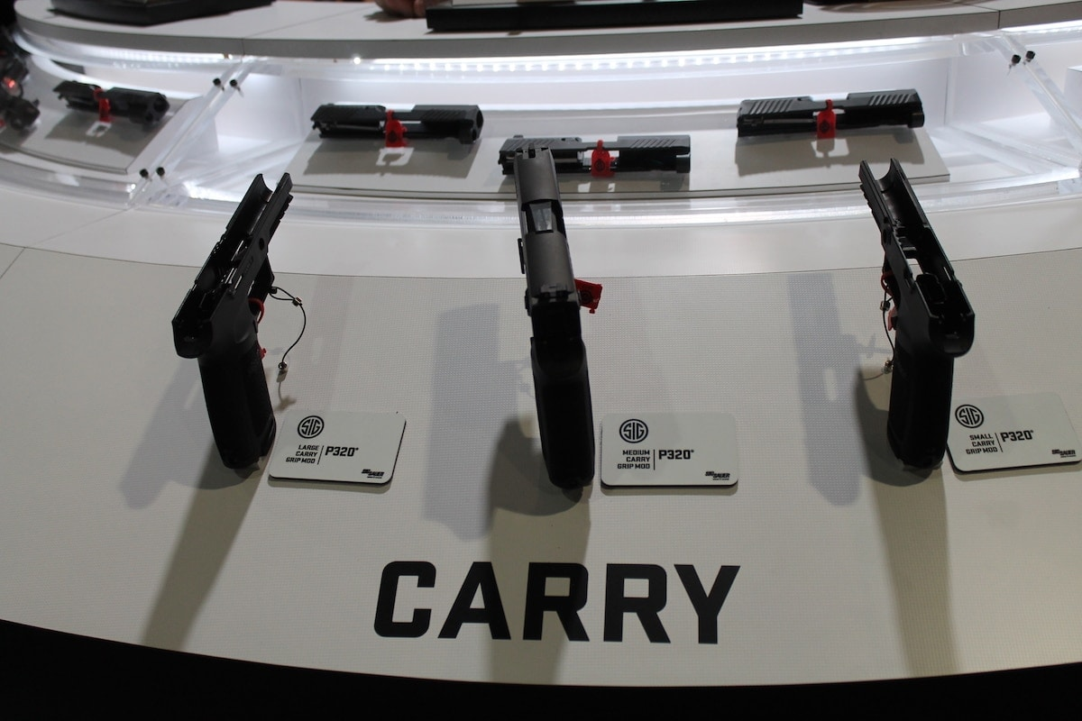 Sig Sauer offered a peek inside their carry sized P320. (Photo: Jacki Billings)