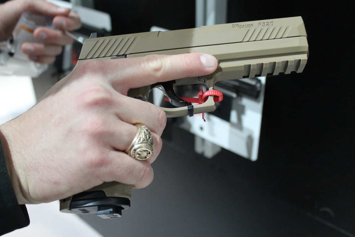 The P320 Air Soft Pistol is modeled after Sig's P320 semi-auto handgun. (Photo: Jacki Billings)