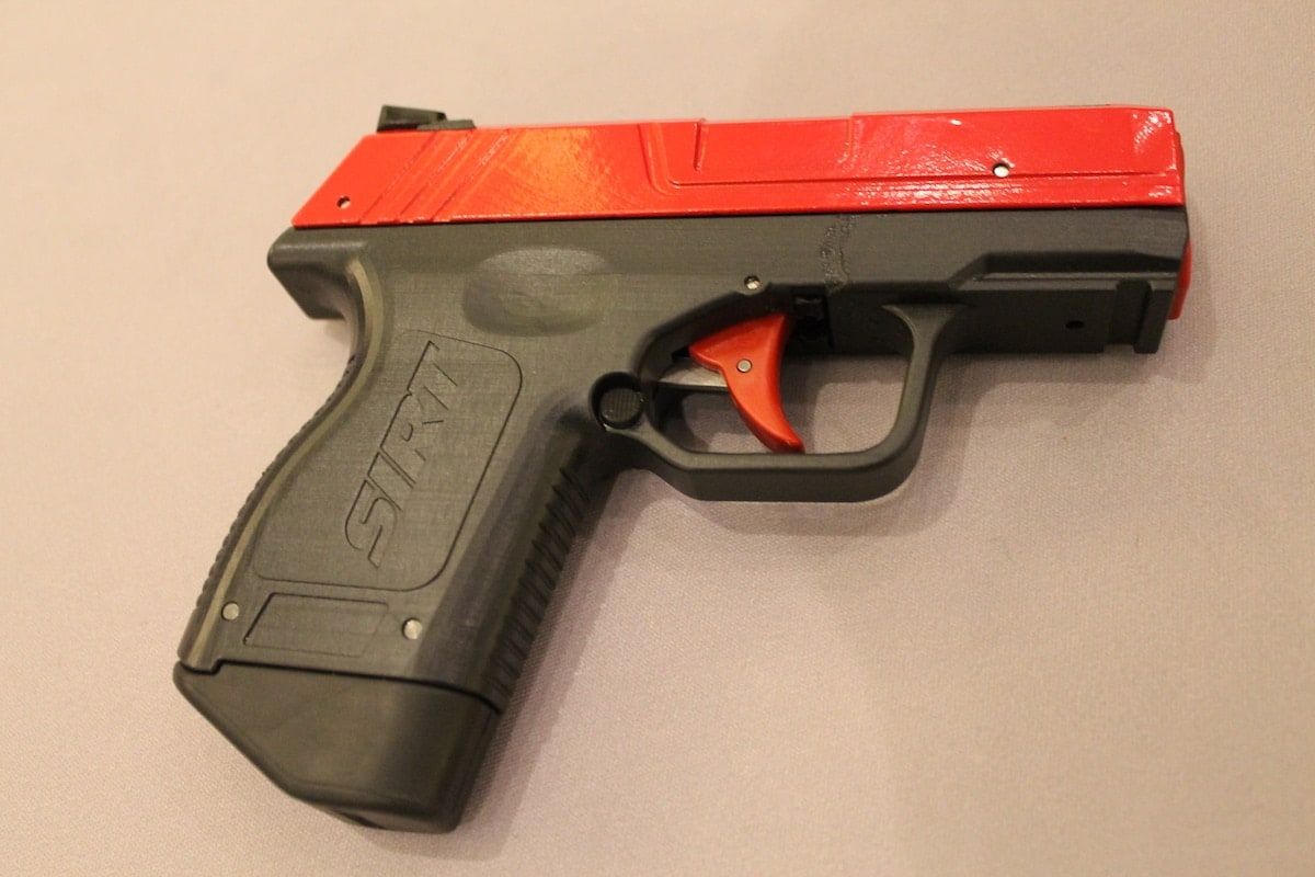 The pocket pistol previewed at SHOT was a prototype. The company intends to release the cleaned-up, finished version sometime in 2017. (Photo: Jacki Billings)
