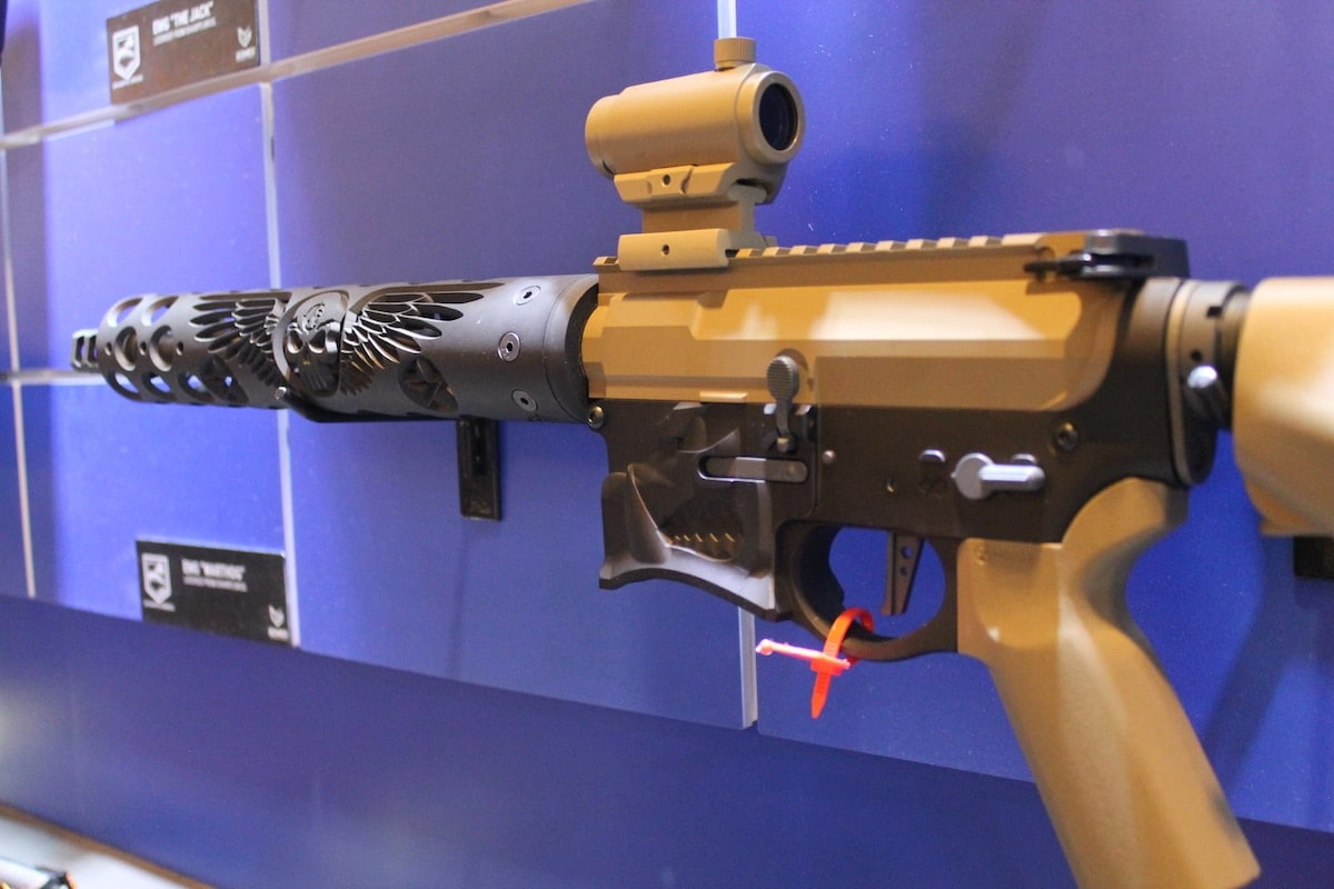Not a fan of red? Check out another version of Evike's EMG Warthog, but in skulled-out tan. (Photo: Jacki Billings)
