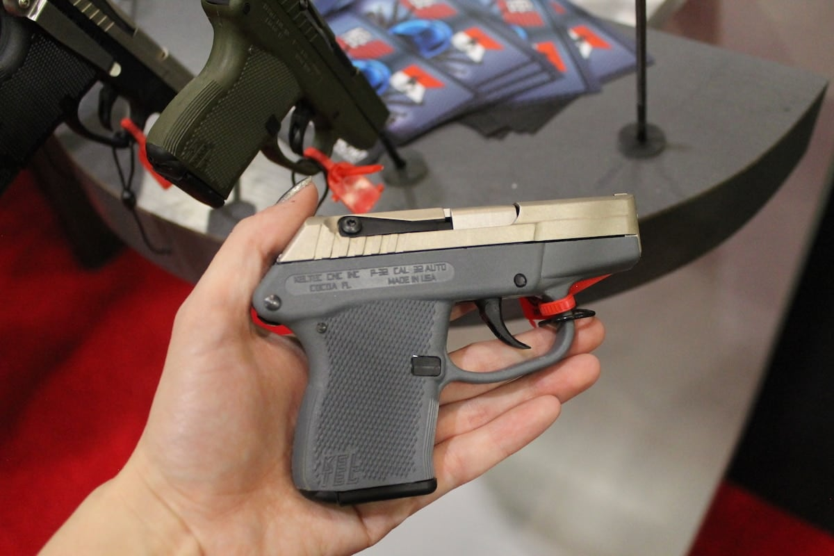 Keltec offers their P-32 in tactical gray. (Photo: Jacki Billings)