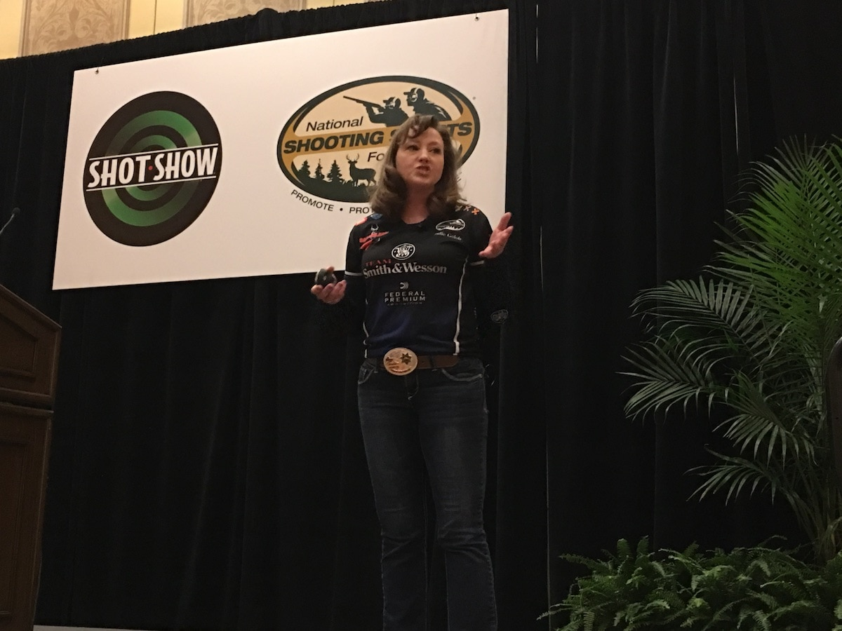 Julie Golob's social media presentation stressed the importance of using social media to reach customers. (Photo: Jacki Billings)