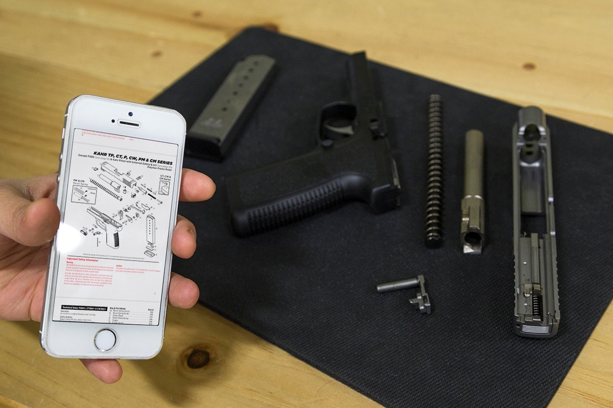 The new app, available for both Apple and Android mobile devices, allows shooters to access information about their favorite Kahr Firearms Group products. (Photo: Kahr Firearms Group)