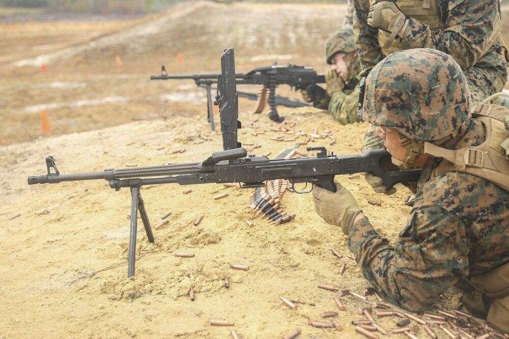 "Named Pulemyot Kalashnikova, or ""Kalashnikov's Machinegun"" this belt-fed GPMG eats 7.62x54R by the belt at 600 rounds per minute"