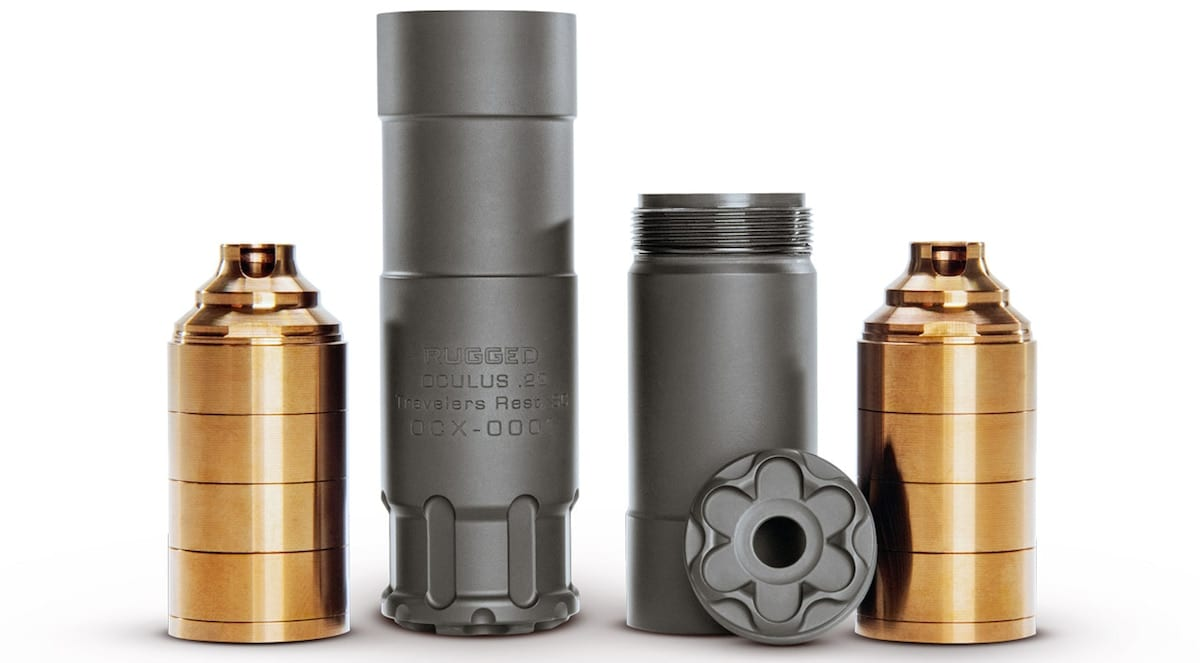The Oculus 22 will be available in a standard configuration, pictured left, and a short configuration, right. (Photo: Rugged Suppressors)