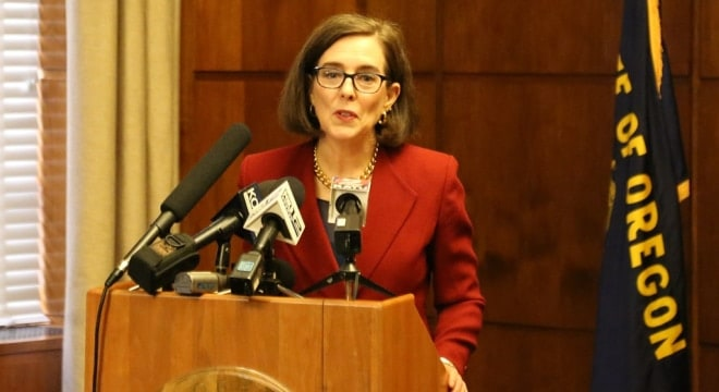 Oregon's Kate Brown wants state lawmakers to move forward on at least two of her gun control proposals she advocated last year. (Photo: Oregon Governor's Office)