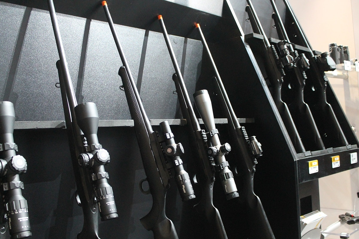 Sig air soft rifles equipped with the latest models of Sig scopes. (Photo: Jacki Billings)