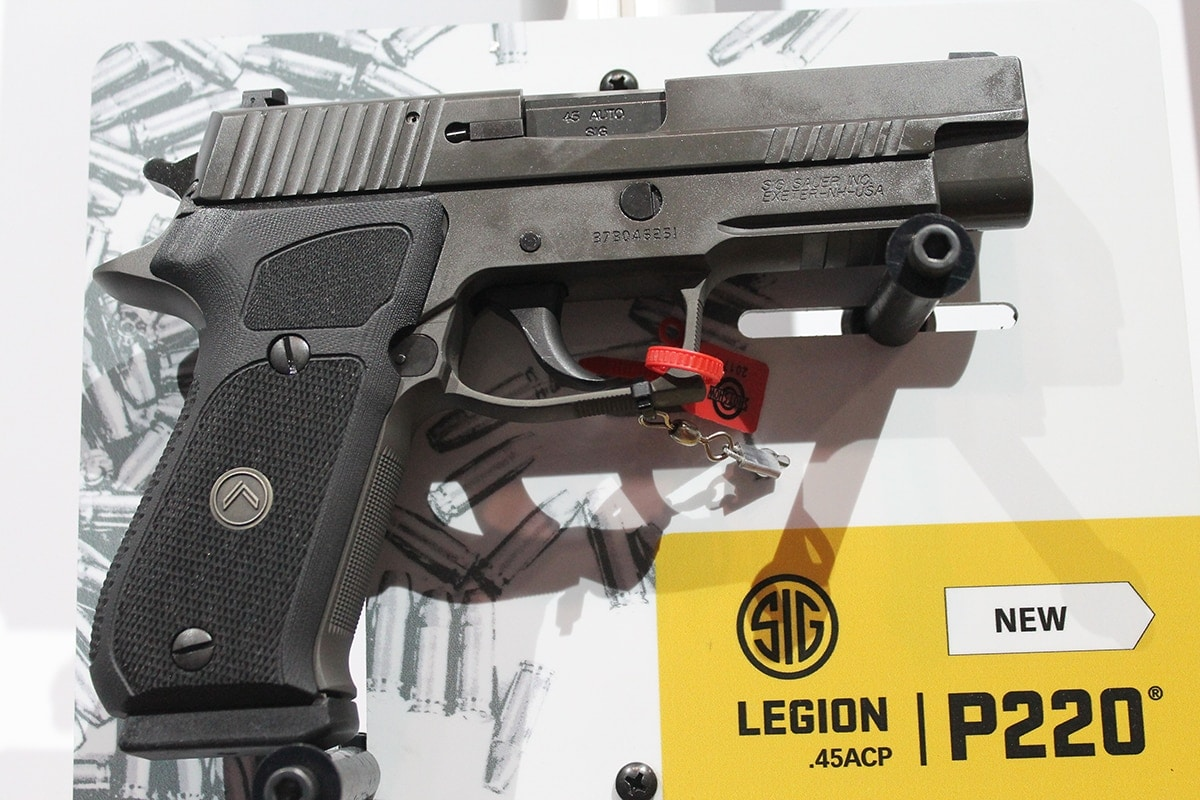 Sig premiered the P220 Legion series at SHOT Show. (Photo: Jacki Billings)