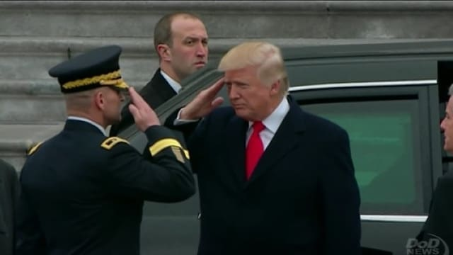 Trump S First Pass In Review As Commander In Chief Video