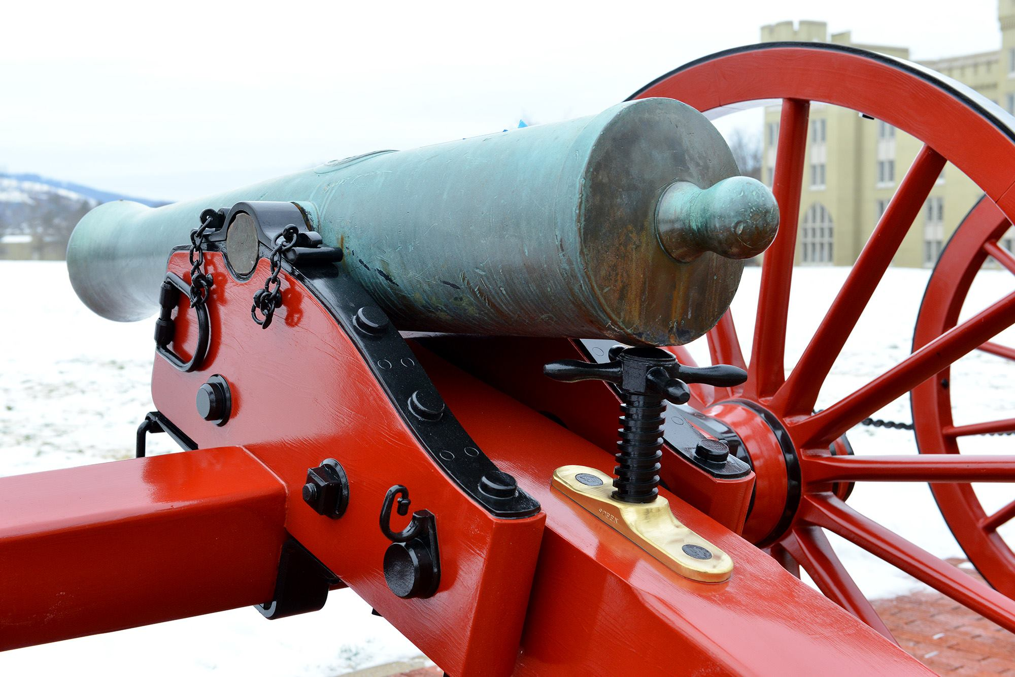 The artillery pieces, designed to be scaled-down models of the standard Army field guns of the day, are more than 150 years and their carriages have been replaced for what the school hopes is the last time