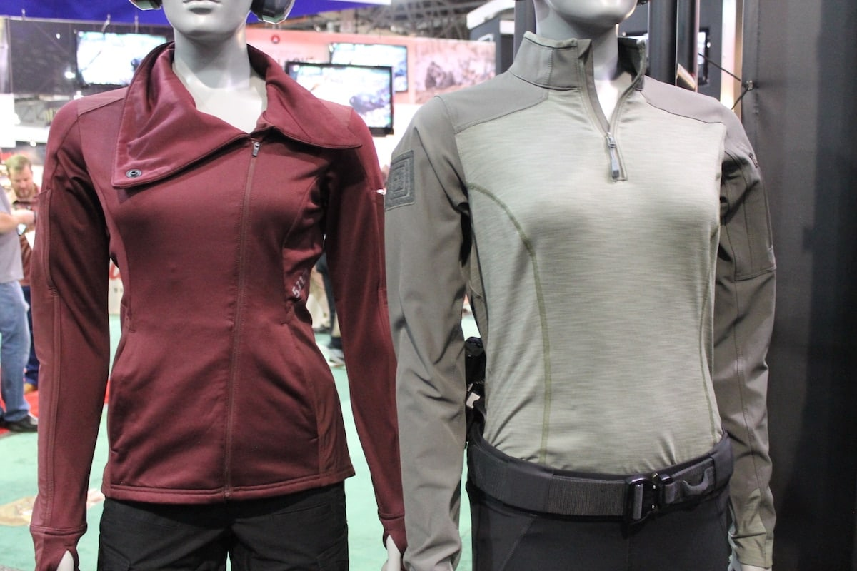5.11 Tactical's new berry jacket caused quit the stir, with women flocking to the booth after catching a glimpse of the rich burgundy color. (Photo: Jacki Billings)
