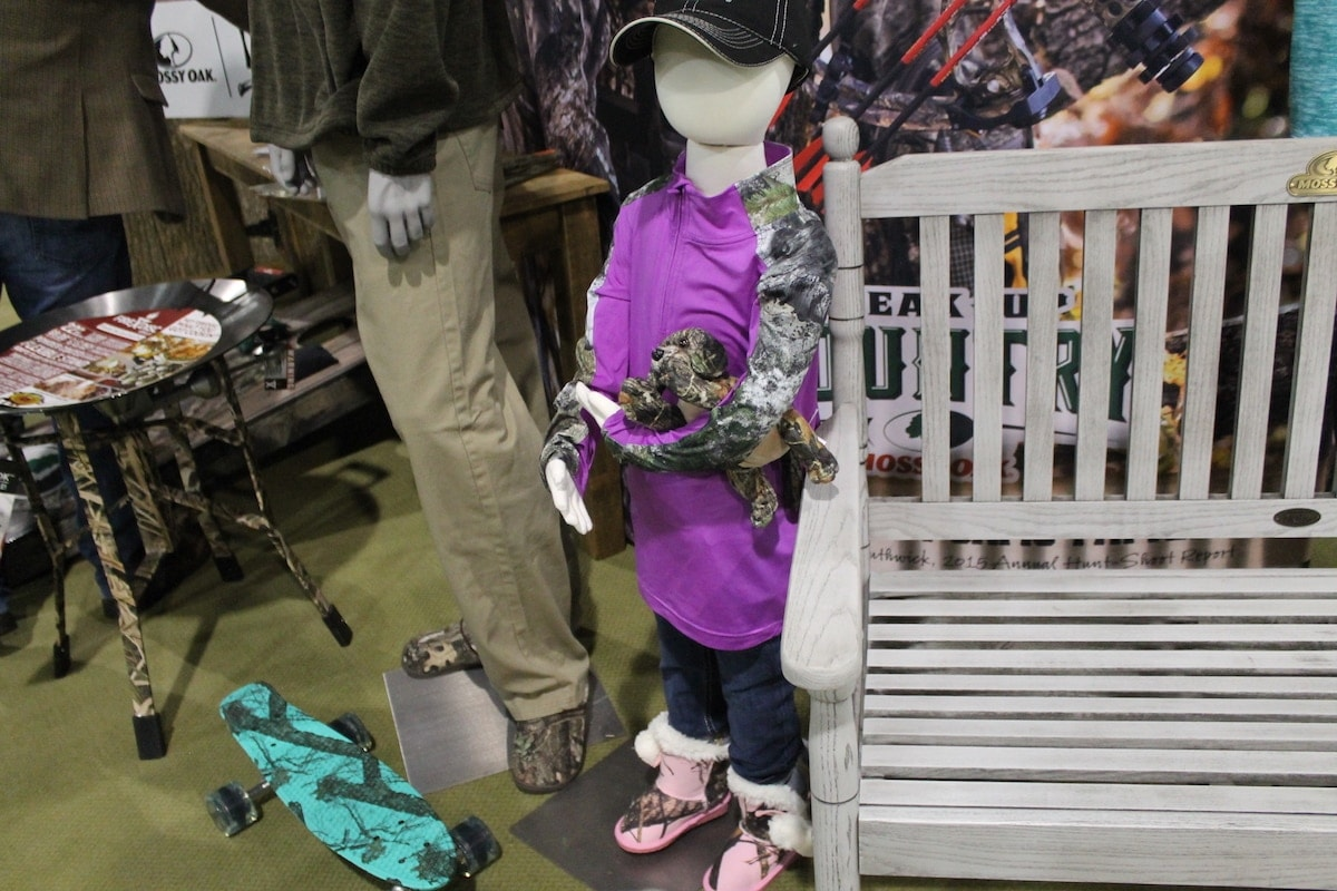 We couldn't forget the littlest of ladies. Mossy Oak's purple and camo attire for the smallest of huntresses. (Photo: Jacki Billings)