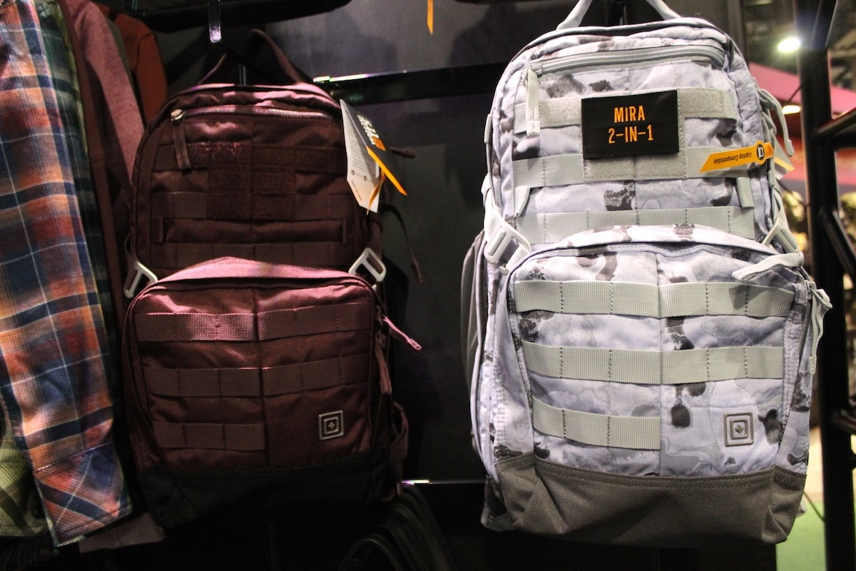 The berry theme continued in the new 2-in-1 Mantra backpack. Meshing fashion with function, the backpack was a standout in women's gear. (Photo: Jacki Billings)