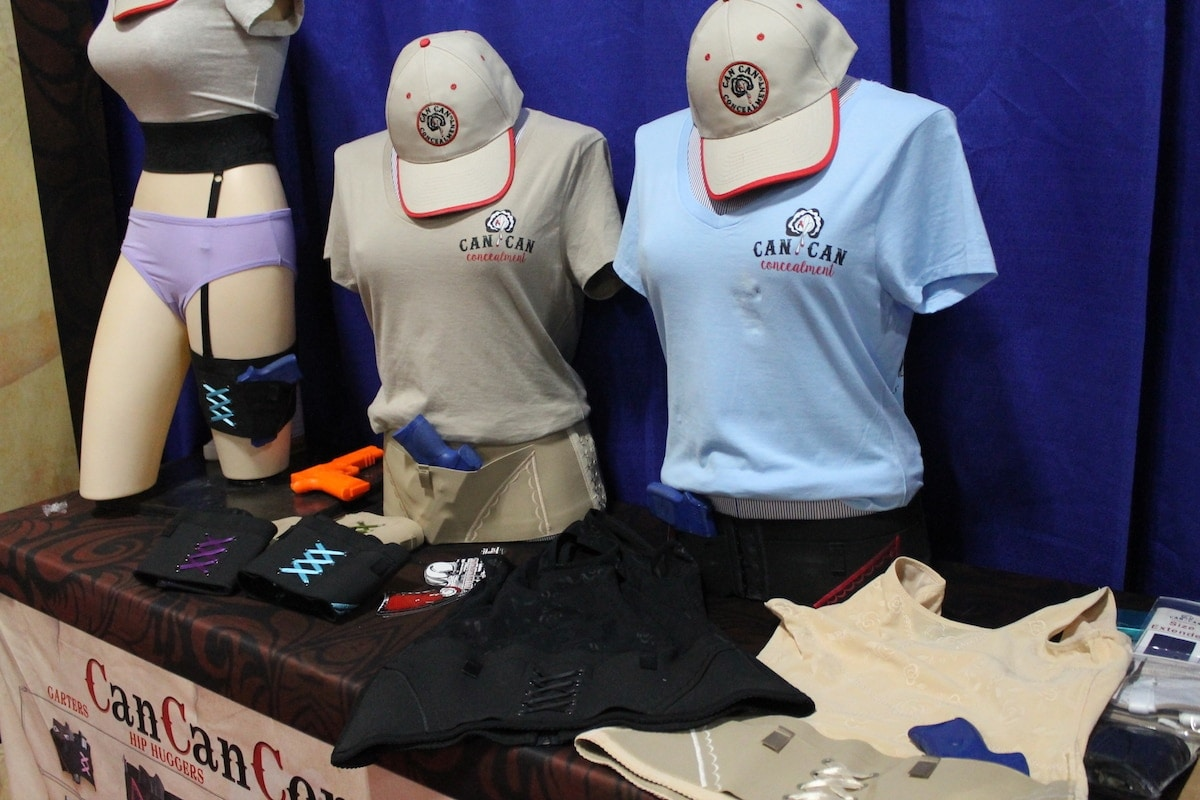 Can Can Concealment was nestled in the underbelly of SHOT Show, but was overrun with patrons checking out the new color of the year. (Photo: Jacki Billings)